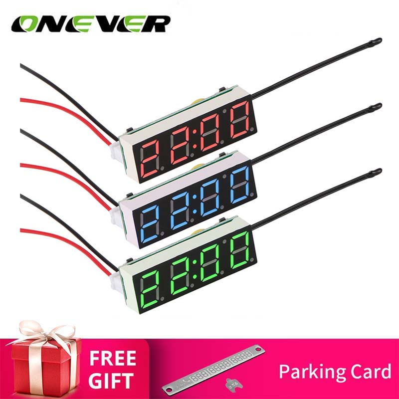 Confident Car Electric Clock Digital Timer Led Temperature Clock Termometro Auto Thermometer Voltage Voltmeter Display For Carro Voiture 100% Original