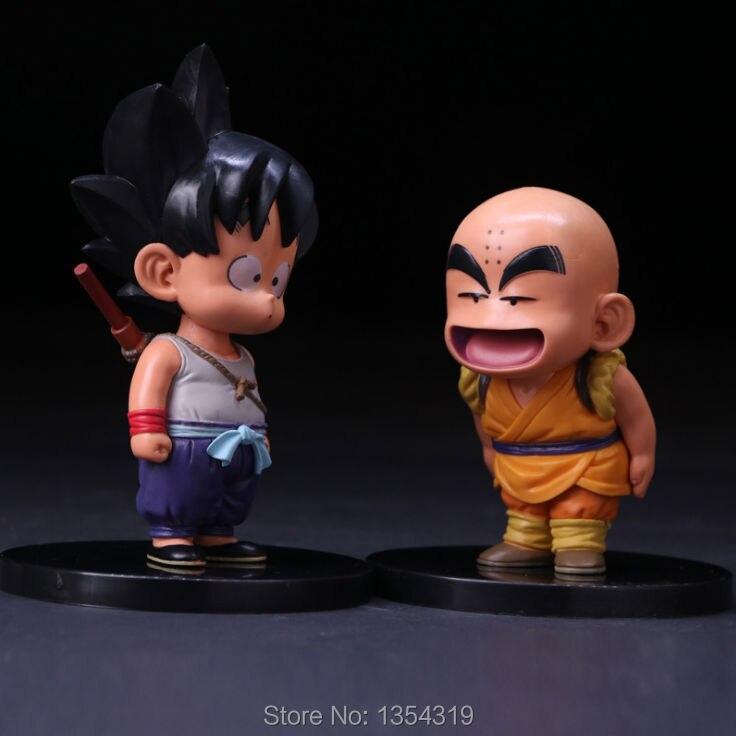 Anime Dragon Ball Z Son Goku Krillin Super Saiyan PVC Action Figure Enfants modèle Jouets GOKU Krilin collection cadeau de noël chaude