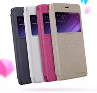 Redmi 4 Pro Case 5 0 Inch NILLKIN Flip Cover PU Leather With View Window For