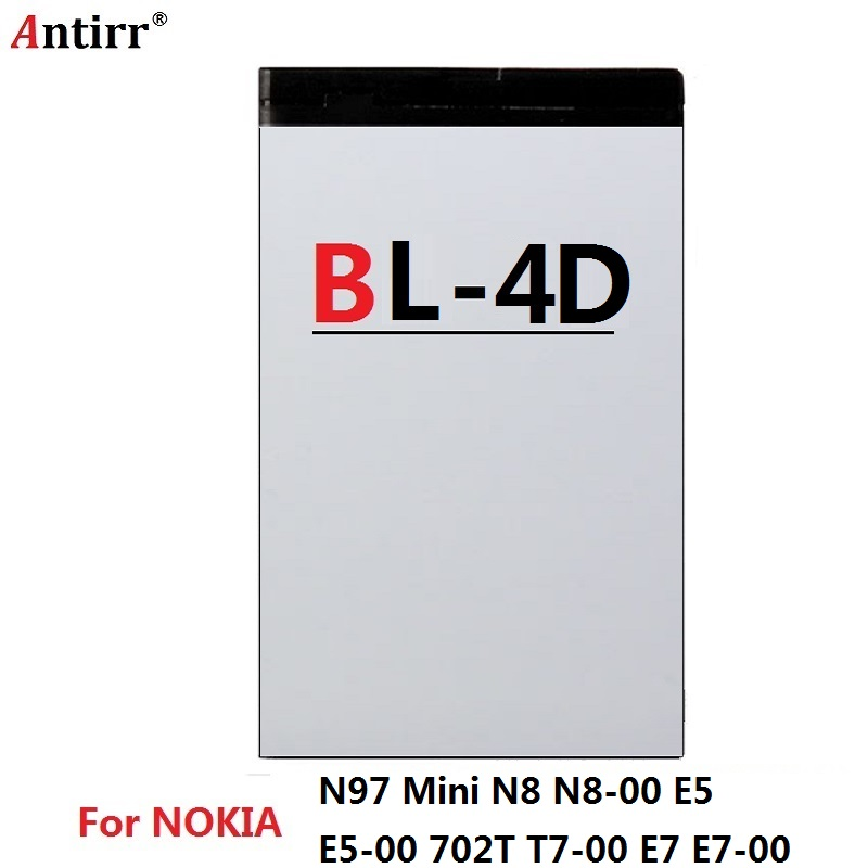 BL-4D phone battery for <font><b>Nokia</b></font> N97 Mini <font><b>N8</b></font> <font><b>N8</b></font>-<font><b>00</b></font> E5 E5-<font><b>00</b></font> 702T T7-<font><b>00</b></font> E7 E7-<font><b>00</b></font> BL4D 1200mAh Free shipping image