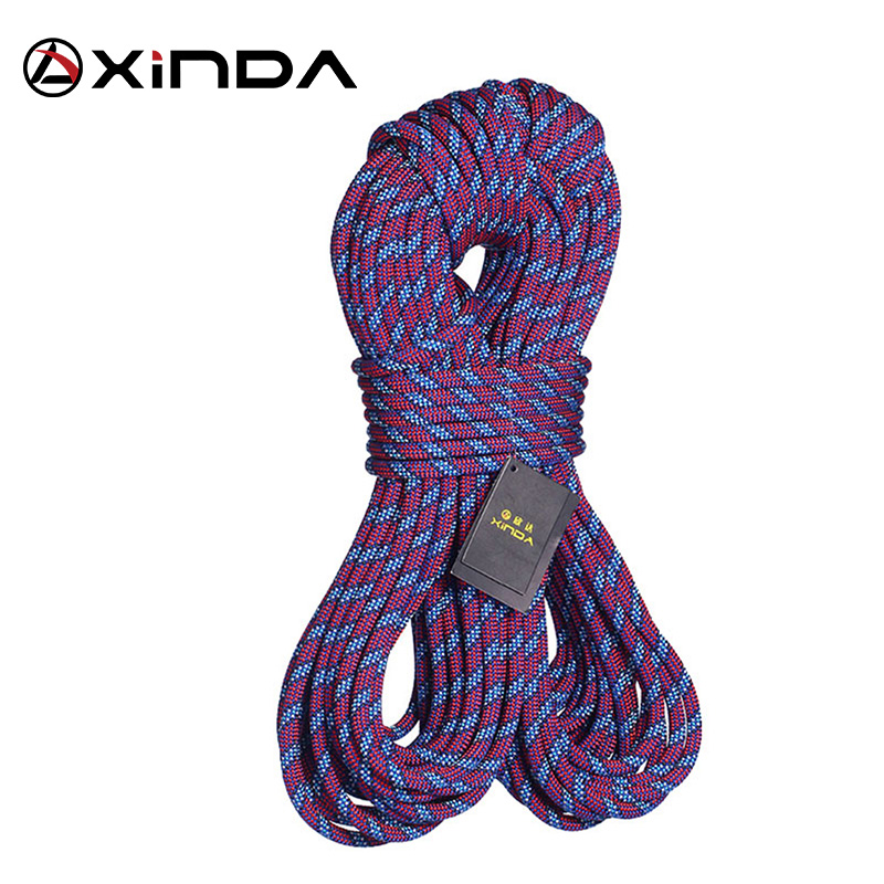 XINDA Rock Climbing Dynamic Rope Outdoor Hiking 11mm Diameter Power Rope High Strength Cord Lanyard Safety Rope Survival Tool