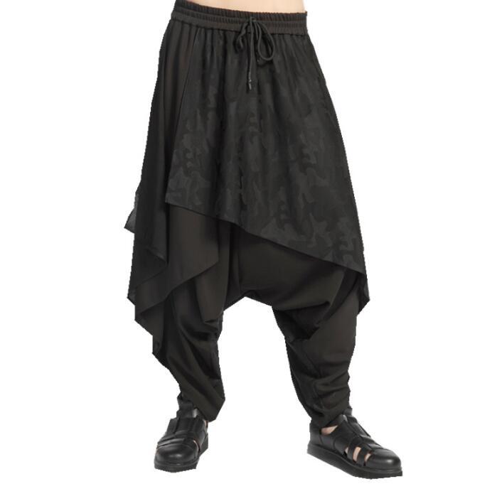 Печати поддельные 2 предмета; Модные шаровары мужские Брюки Хомбре Брюки-Карго Облегающие штаны для мужчин мужские панталоны