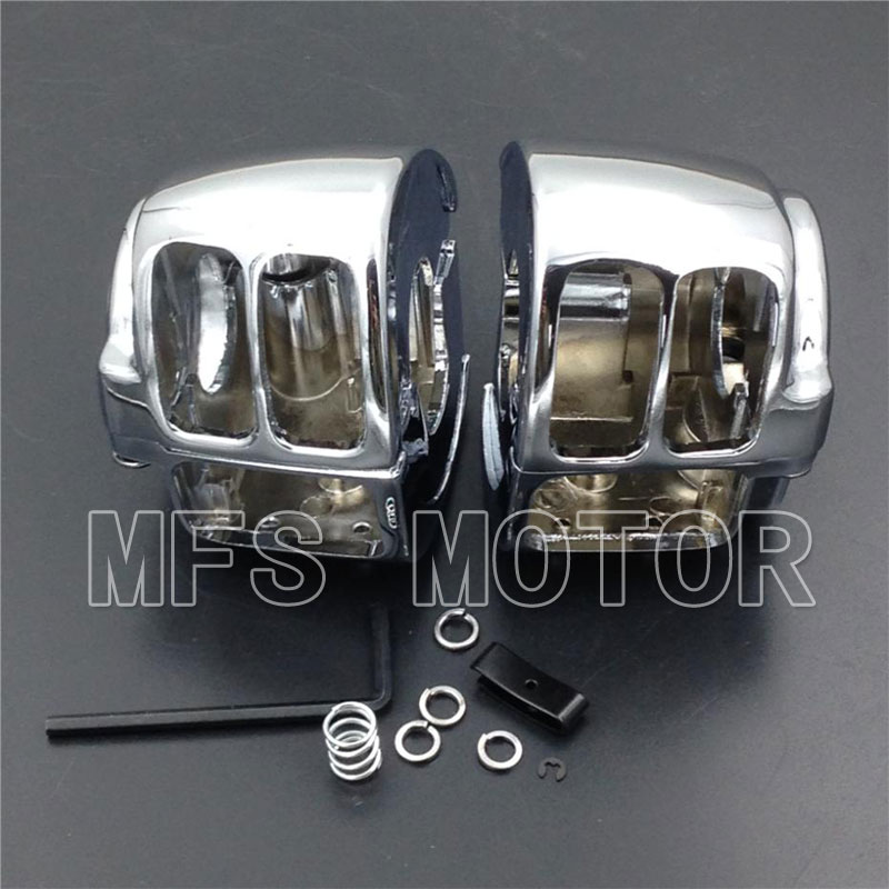 Motorcycle Switch Housing Cover For Harley Sportster Dyna Softail V-Rod 2002 2003 2004 2005 2006 2007 2008 2009 2010 CHROME