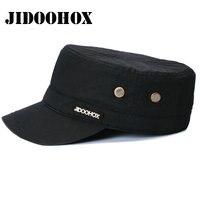 [Jidoohox] جودة عالية الكلاسيكية خمر القبعات العسكرية 100% ٪ للرجال النساء قبعات الحقل مزودة سائق شاحنة قبعة بيسبول شقة الأعلى