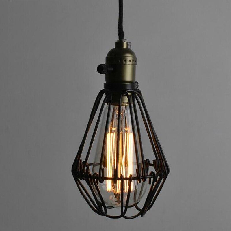 Metal cages pendant lamp Industrial Warehouse Style Antique Loft ...