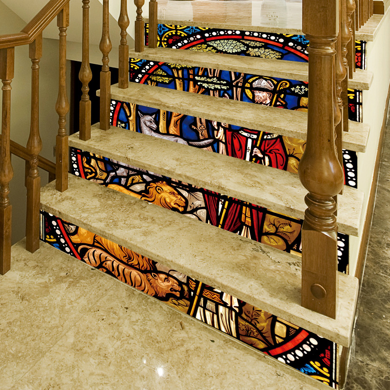 Image 4 - Religious Backsplash Tile Stickers DIY Tile Decals Mexican Traditional Waterproof Stick Home Decor StairCase Decal Stair Mural D-in Wall Stickers from Home & Garden