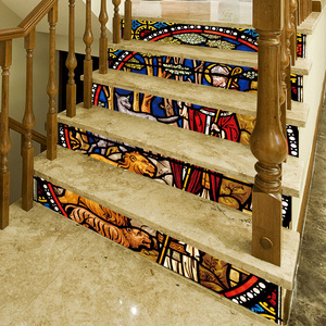 Image 4 - 宗教backsplashのタイルステッカーdiyタイルデカールメキシコ伝統防水スティック家の装飾階段デカール階段壁画d
