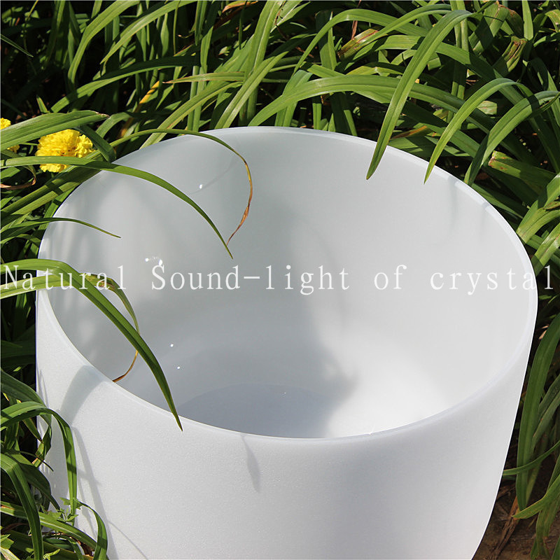 ФОТО 13 inch C Chakra Root Frosted Quartz Crystal Singing Bowl or other musical note and free suede mallet