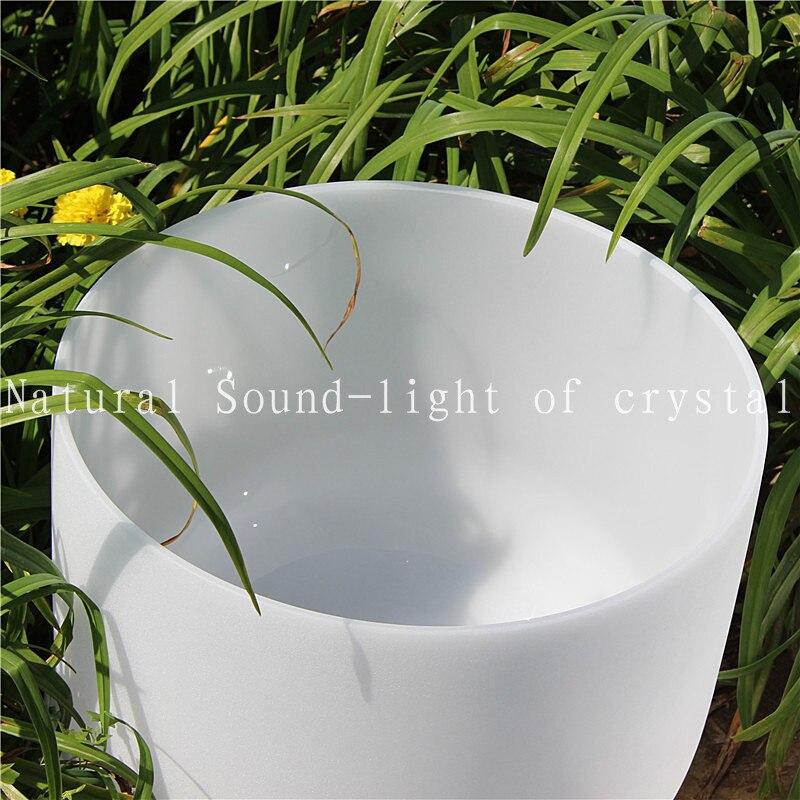 Здесь продается  13 inch C Chakra Root Frosted Quartz Crystal tibetan meditation singing bowl and free suede mallet  Спорт и развлечения
