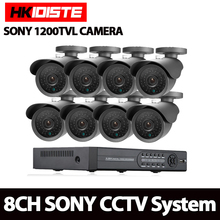 Home AHD 8CH 1080P HDMI DVR 1200TVL 1.0MP HD Outdoor Security Camera System 8 Channel CCTV Surveillance DVR Kit SONY Camera Set