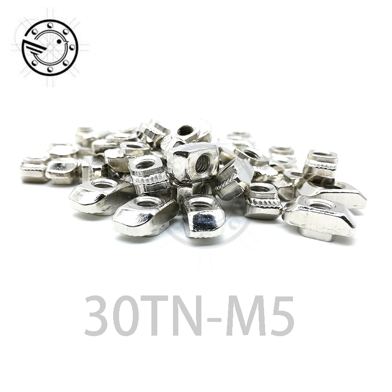 Free shipping 50pcs 30-M5 hammer nut M5 block t slot nuts for 3030 aluminum profile extrusion Slot 8mm free shipping new arrival 35pcs pack 2m pcs led aluminum profile for led strips with milky or transparent cover and accessories