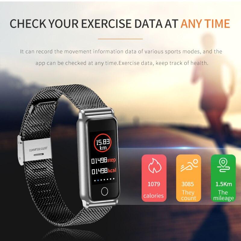 Y8 Smart Bracelet Femmes Montre de Sport Fitness Tracker Montre Smart Watch Étanche Fréquence Cardiaque La Pression Artérielle Moniteur D'oxygène Femmes