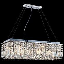 LED Moderno Rettangolare Lampadario di Cristallo di Luce Lampada a Sospensione Lampada a Sospensione per Soggiorno Sala Da Pranzo Decorazione del Ristorante