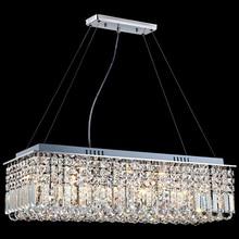 Lustre rectangulaire en cristal, design moderne, luminaire décoratif de plafond, idéal pour un salon, une salle à manger, un Restaurant, LED