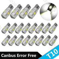 Car Auto LED T10 194 W5W Canbus 10 SMD 5630 5730 LED Light Bulb No Error