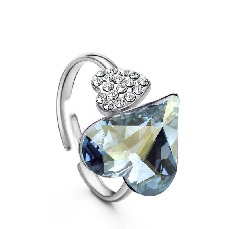 b57de766de93 Neoglory Cristal de Austria y checa de diamantes de imitación ajustable de  encanto anillo de dedo