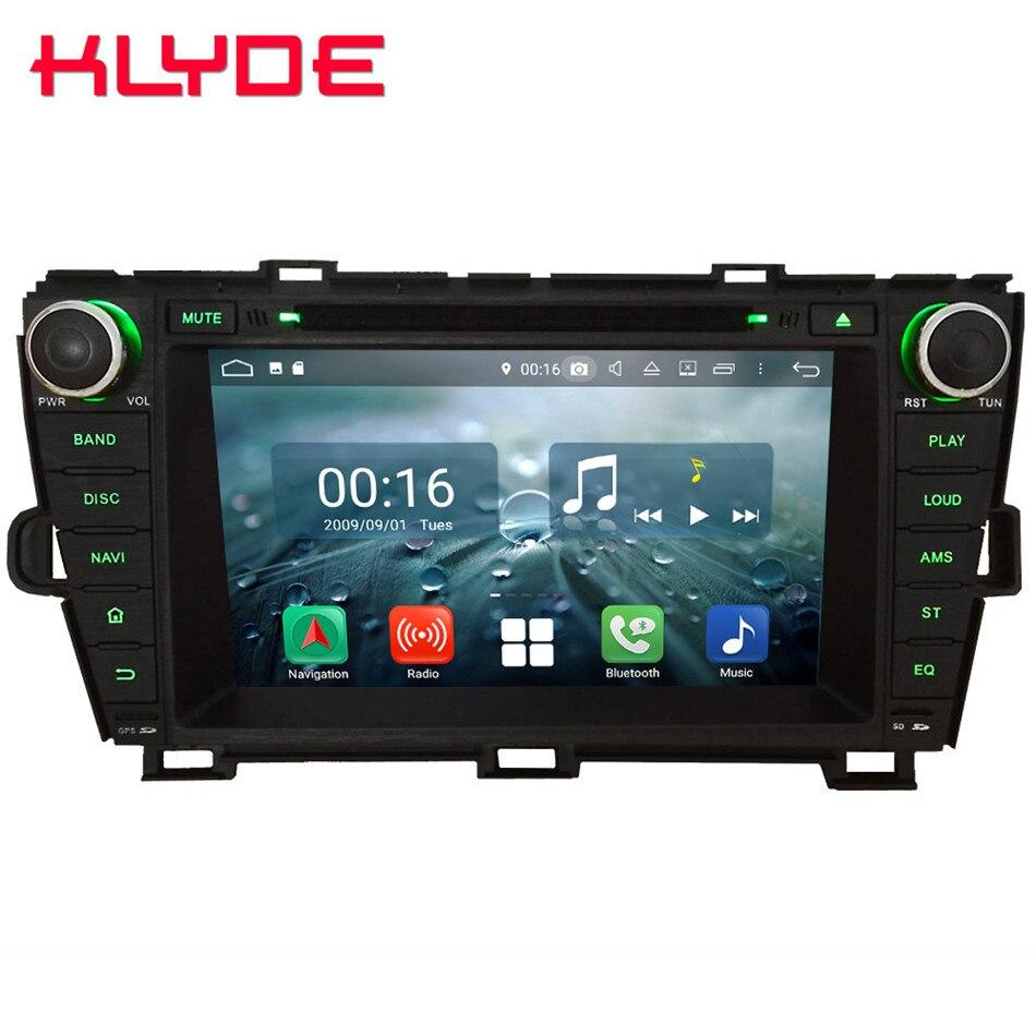 8 Octa Core 4g Android 8.1 4 gb RAM 64 gb ROM RDS Voiture DVD Lecteur Multimédia Radio stéréo GPS Glonass Pour Toyota Prius 2009-2015