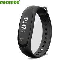RACAHOO Nueva Pulsera Inteligente Bluetooth Dispositivos Portátiles Con Frecuencia Cardíaca Podómetro Sleep Monitor de Presión Arterial de Fitness Smartband