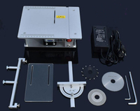 Precision Miniature Table Saw DIY Mini Acrylic PCB Cutter Metal Model Saw With 3pcs Blades And