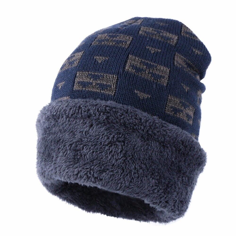 cb47a0d518cd1 women s men s winter beanies cheap winter hat gorros skullies knitted plaid  design solid thick warmer outdoor winter hats