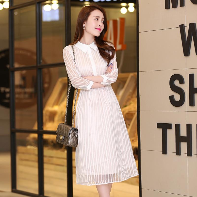 2015 chun xia new boutique dress 7 minutes of sleeve dress girl