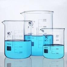 5ml 3000ml GG 17 borosilikat cam beher yüksek sıcaklık dayanımı Beaker laboratuvar ekipmanları züccaciye okul malzemeleri