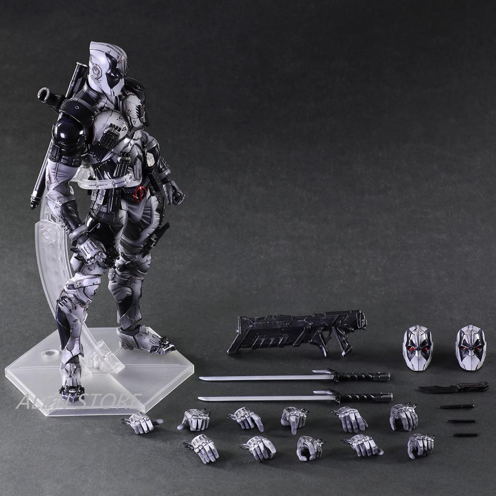 ALEN Figure X gray version of Deadpool X-Men play art dead pool PVC doll collection model doll toy gift 25cm