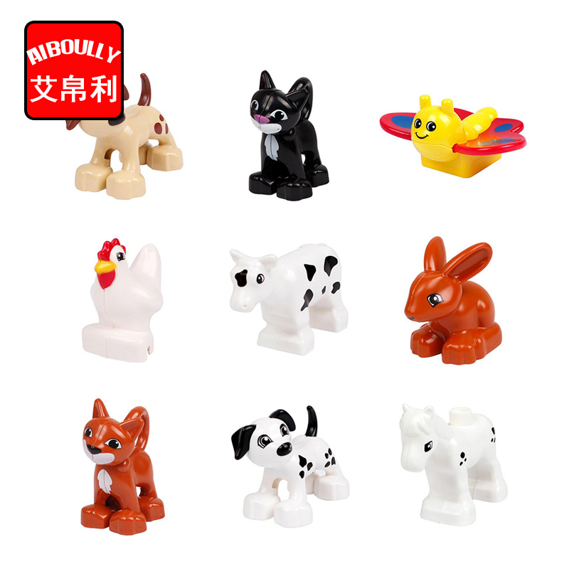 Cute Animal Forest Farm Ocean Models Duploe Figures Compatible with Toy DIY Building Creative Blocks Toys