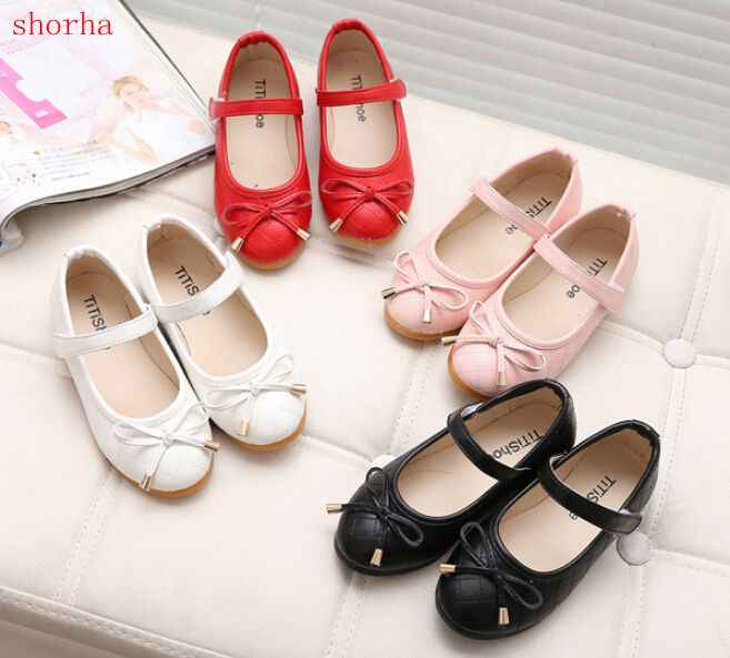 shorha party girls shoes new fashion 2018 baby children kids girl princess leather red shoe spring autumn size 21~35
