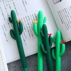 Cactus gel caneta criativo caneta kawaii canetas lapitas escritorio kalem stylo boligrafo canetas material escolar papelaria