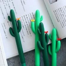 cactus gel pen Creative caneta Kawaii canetas lapices escritorio kalem stylo boligrafo pens school supplies papelaria erasable pen color gel pen creative papelaria kawaii boligrafo caneta cute pens kalem stationary canetas lapices