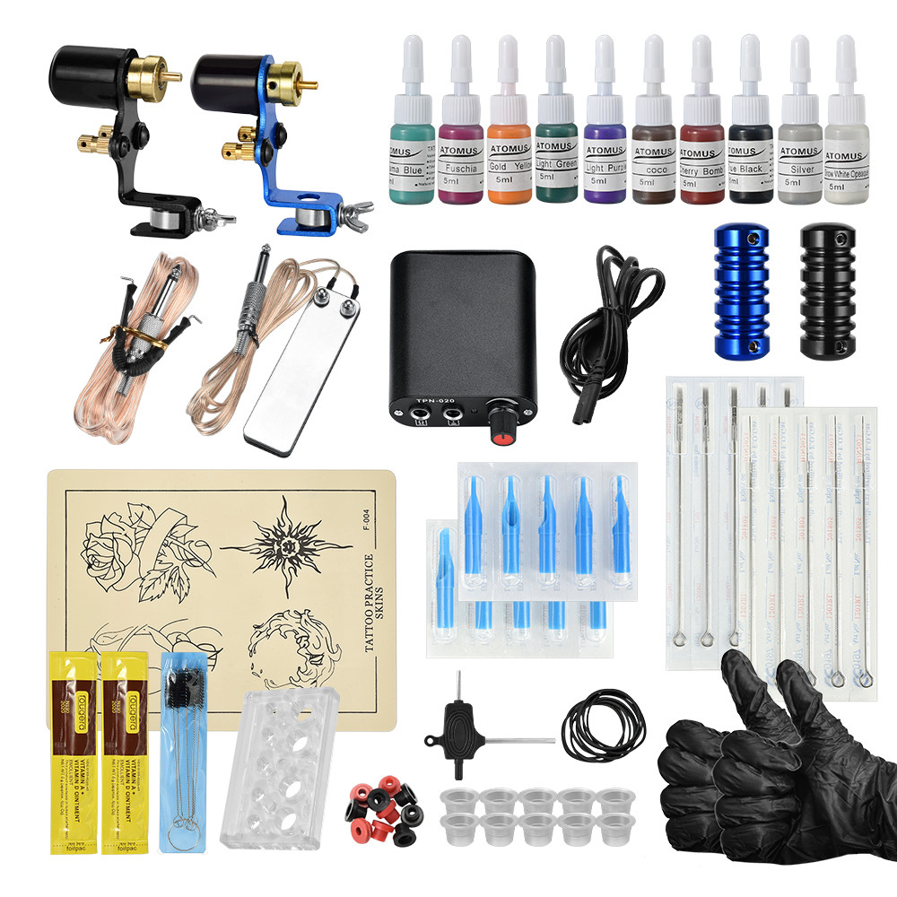 Tattoo Kits For Beginners Set Gun Inks Power Supply Kit Tattoo Machine Kits Completed Set For Body ArtistTattoo Kits For Beginners Set Gun Inks Power Supply Kit Tattoo Machine Kits Completed Set For Body Artist