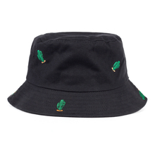 2017 New Embroidered Green Cactus Bucket Hats Women boonie