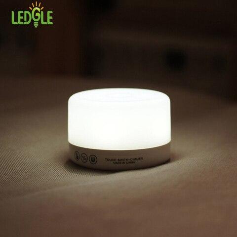 ledgle controle de toque noite luminaria lampada dimmable lampadas quarto luzes de cabeceira luz recarregavel