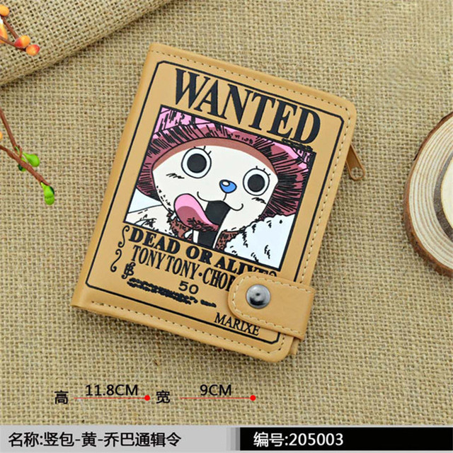 Anime Cartoon Men Boys Women Girls Short Wallet One Piece Luffy Roronoa Zoro Tony Chopper Fairy Tale Tokyo Ghoul Totoro