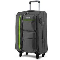 Universal wheels trolley luggage travel bag code case soft box luggage bag 20 24 26 28 luggage,oxford trolley luggage bags case