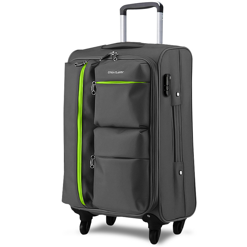 цена Universal wheels trolley luggage travel bag code case soft box luggage bag 20 24 26 28 luggage,oxford trolley luggage bags case