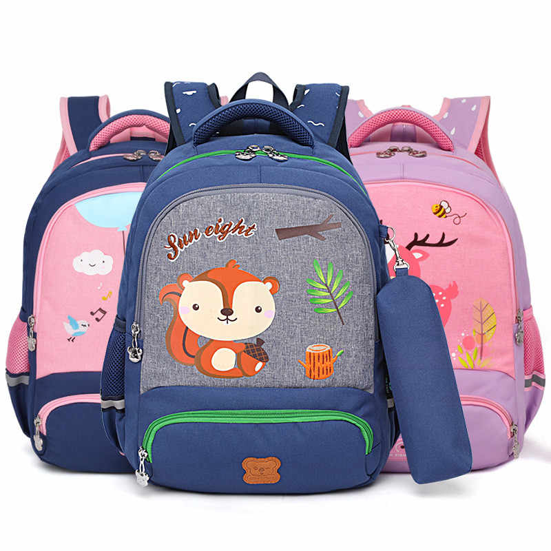 de0ddbdbca98 2019 Waterproof Orthopedic Backpack Children School bags Kids Book Bag  Children primary school Backpack Boys Girls