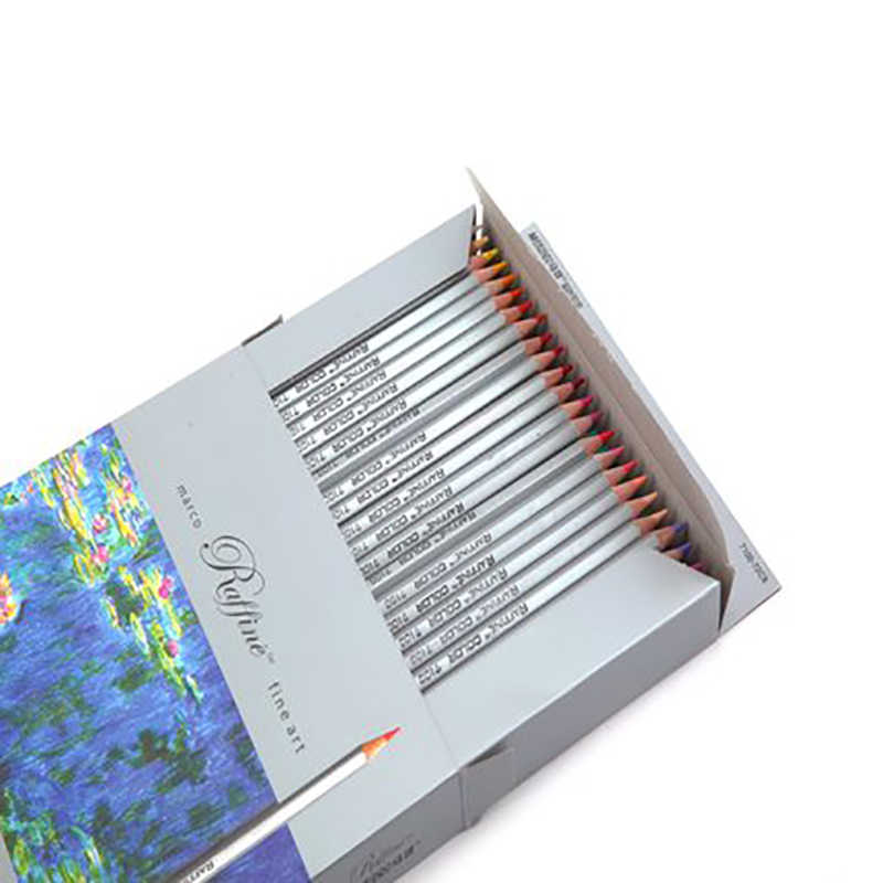 Marcoรัฟฟิเน่72สีไพฑูรย์เดรมืออาชีพน้ำมันดินสอสีไม้ชุดสำหรับวาดจิตรกรรมวาดศิลปะอุปกรณ์การเรียน