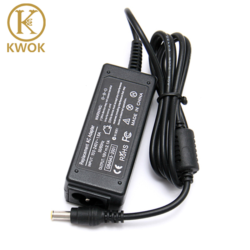 Image 1 - Brand New 19V 2.1A 40W AC Power Laptop Charger For Samsung Notebook ad 6019 530U3C 535U3C N130 N140 N145 N148 N150 NC10 Laptop-in Laptop Adapter from Computer & Office
