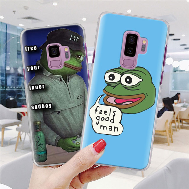 Coque de téléphone triste grenouille pour Samsung Galaxy S10e S10 S20 + S20 Ultra S7 S8 S9 Plus Note 8 9 10 Plus 5G Coque rigide