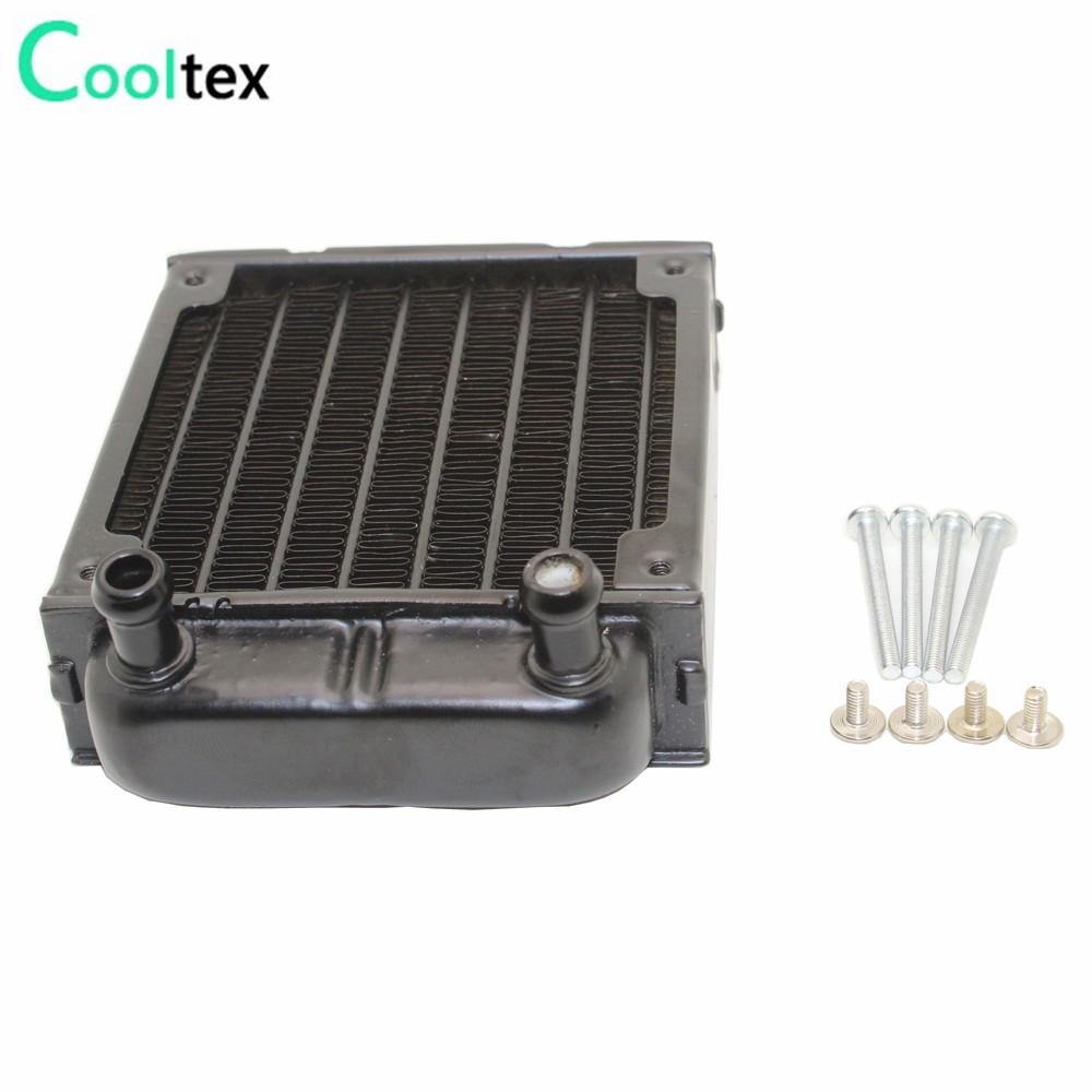80mm water cooling radiator for computer Chip CPU GPU VGA RAM  Laser cooling cooler  Aluminum Heat Exchanger 40 80 12mm aluminium water cooling waterblock heatsink block liquid cooler for cpu gpu laser head industrial control cabinet