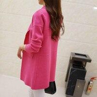 2016 Autumn Maxi Cardigan Feminino Ankle Length Sweater Coat Women Knitted Long Sleeve Korean Vintage Black