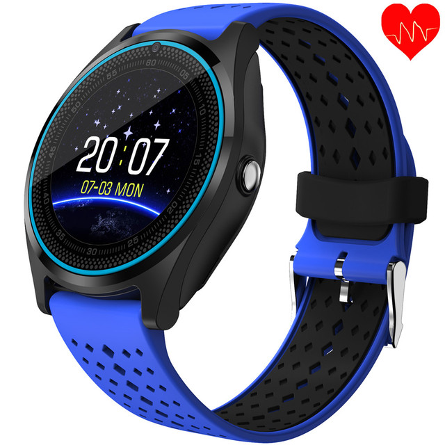 V9 HR Smart Watch Men Support SIM Card Heart Rate Monitor With