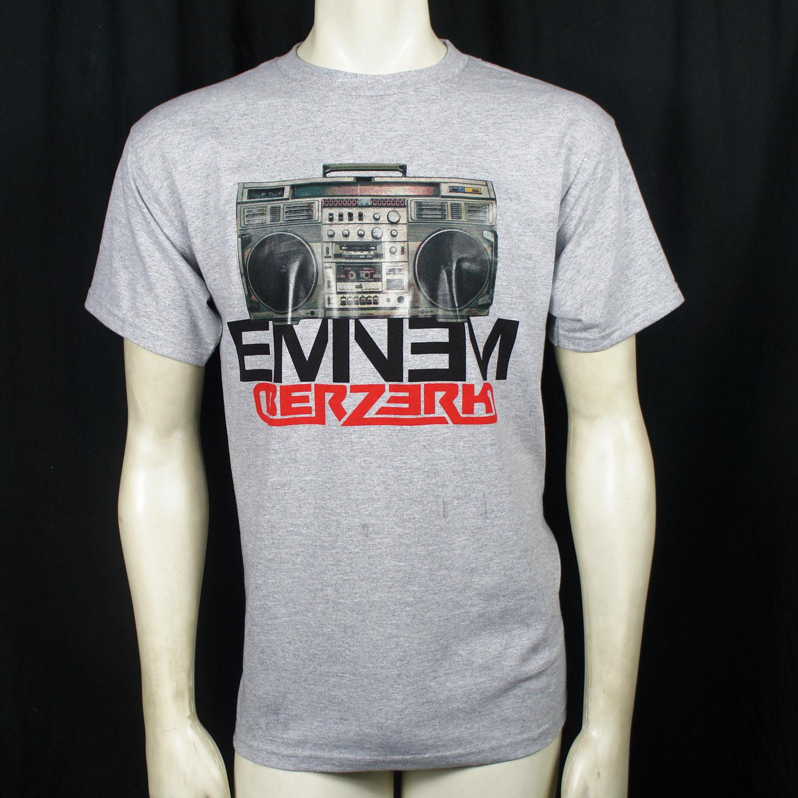 Quality T Shirts Printing Short Authentic Eminem Boombox Berzerk