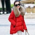 Winter Jacket Women 2016 Women's Down Jacket Coat 100% Raccoon Big Fur Collar Hooded Long Jacket Winter Down Parkas Outwear