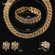 Bridal Gift Nigerian Wedding jewelry set 2018 fashion Dubai generation crystal necklace set African beads jewelry set for women(China)