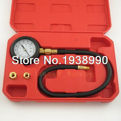 Oil Pressure Tester Gauge Engine Diagnostic Test Kit Adapters Case 0-100psi NEW  cr508 diesel common rail pressure tester and simulator for bosch delphi denso sensor test tool diagnostic tools high pressure