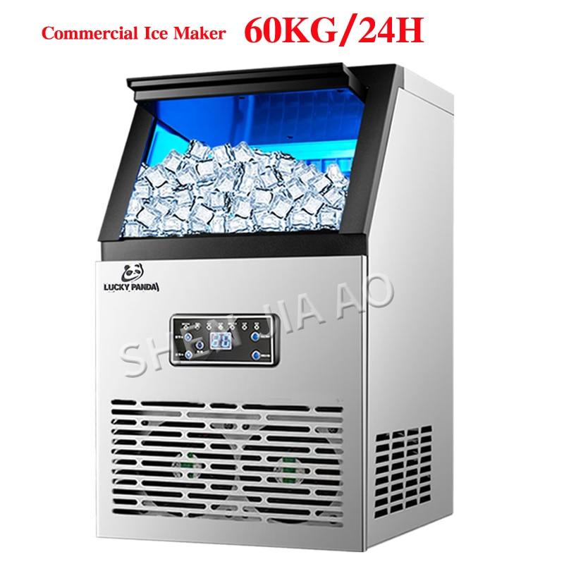 Der Maschine Für Bar Milch Tee Zimmer 110 V/220 V HüBsch Und Bunt Kaffee Shop GroßZüGig 60 Kg/24 H Eismaschinen Sk-60ff Kommerziellen Automatische Ice Cube
