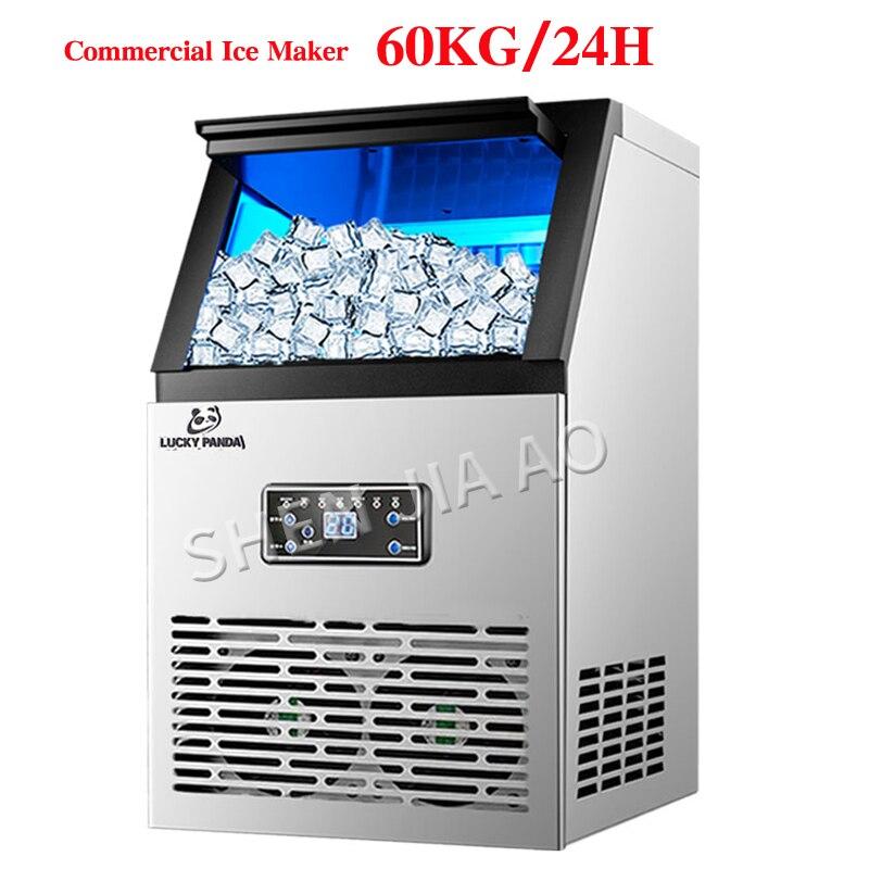 60 kg/SK-60FF 24H Fabricantes de Gelo Cubo de Gelo Que Faz A Máquina automática comercial para Bar, Coffee shop, sala de Chá de leite 110 v/220 v